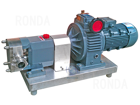 D-3A stainless steel food grade rotor lobe pump