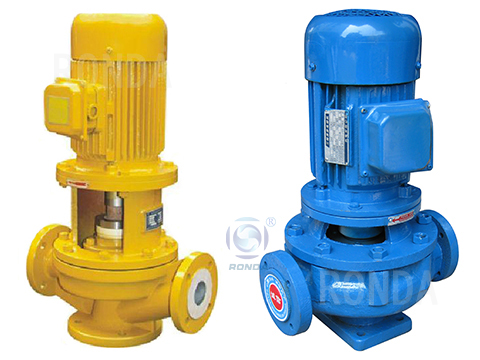 GBF vertical fluorine plastic lined pipeline chemical pump